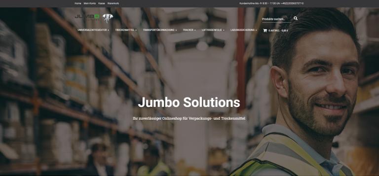 Webseite Jumbo Solutions