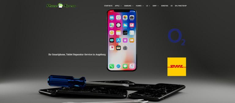 Webseite Phone Xpress Augsburg